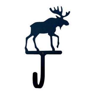 Black Wrought Iron Large Moose Wall Hook