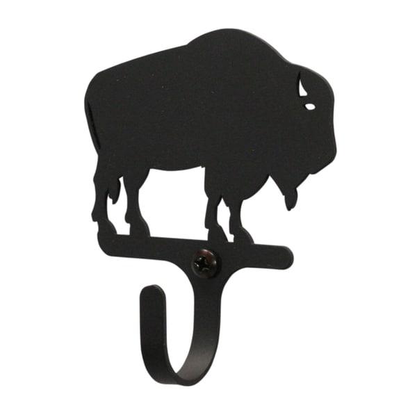 Black Wrought Iron Extra-small Buffalo Wall Hook