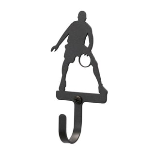 Basketball Player Black Wrought Iron Small Wall Hook