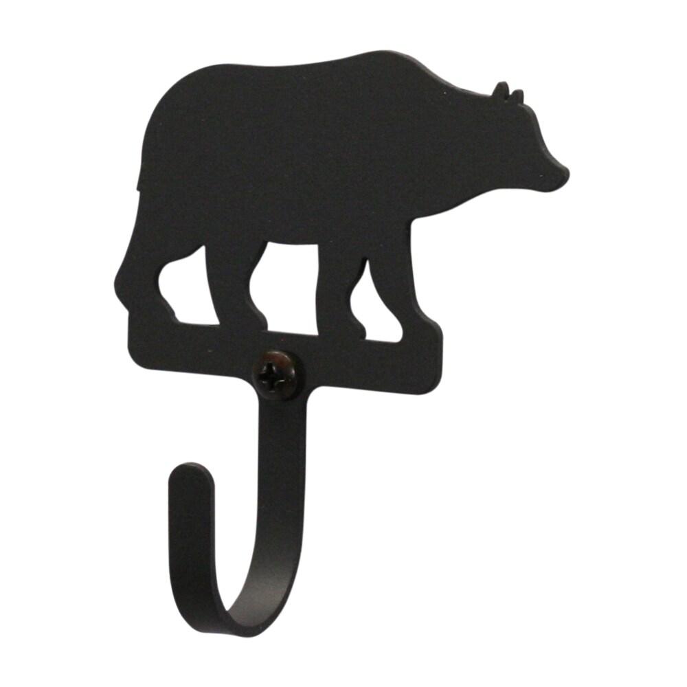 Bear Black Wrought Iron Extra Small Wall Hook (Bear - Wal...