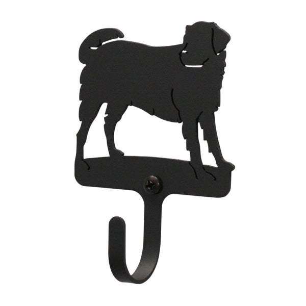 Black Wrought Iron Small Dog Wall Hook