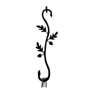 Acorn Black Wrought Iron S Hook