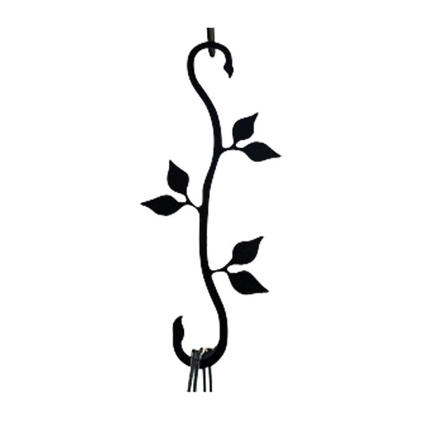 Black Wrought Iron Leaf S-Hook