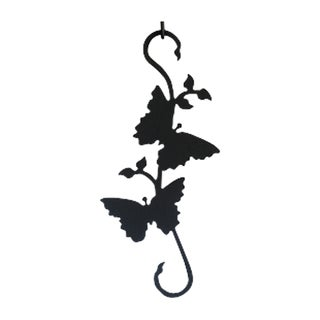 Wrought-Iron Butterfly S-Hook
