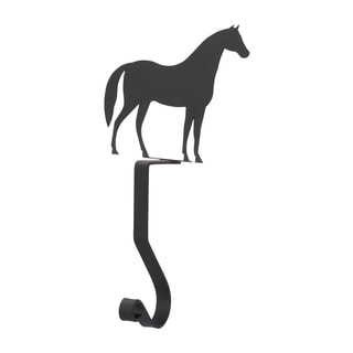 Horse Black Metal Mantel Hook