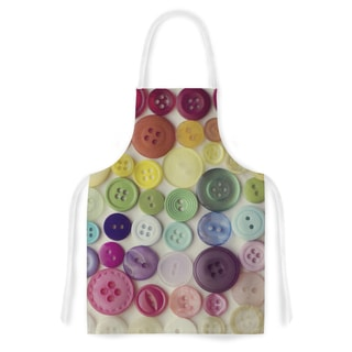 Kess InHouse Kristi Jackson 'Rainbow Buttons' Artistic Apron