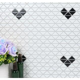 1-inch Single Heart Pattern Matte Porcelain Mosaic Tile (10 Sheets per Carton)