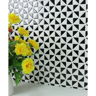 1-inch Multiple Windmill Pattern Glossy Porcelain Mosaic Tile