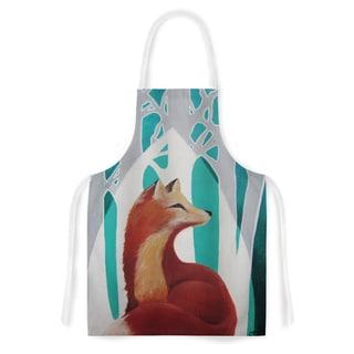 Kess InHouse Lydia Martin 'Fox Forest' Artistic Apron