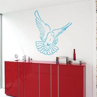 Dove Flying Peace Symbol Interior Design Home Decor Vinyl Stickers Wall Art Nursery Room Sticker Dec