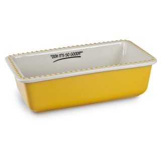 Mr Food Test Kitchen Yellow Stoneware 9-inch x 5-inch Loaf Pan