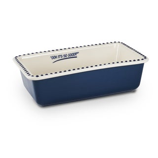 Mr Food Test Kitchen Blue Stoneware 9-inch x 5-inch Loaf Pan