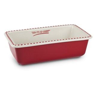 Mr Food Test Kitchen Red Stoneware 9x5 Loaf Pan