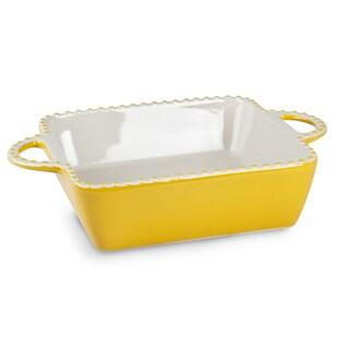 Mr Food Test Kitchen Yellow Ceramic Casserole Dish