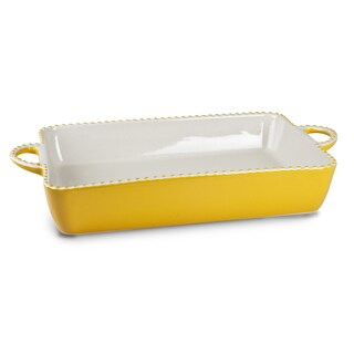 Mr Food Test Kitchen Yellow Ceramic 9-inch x 13-inch Casserole Dish