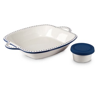Mr Food Test Kitchen Blue 3-piece Silicon Cover Chip and Dip Set