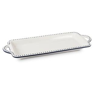 Mr Food Test Kitchen Blue and White Ceramic Serving Platter