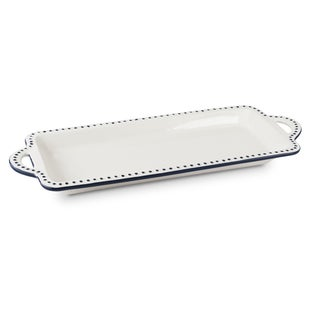 Mr Food Test Kitchen Blue and White Ceramic Serving Platter