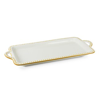 Mr Food Test Kitchen Yellow Ceramic 16-inch x 9-inch Platter