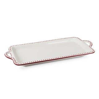Mr Food Test Kitchen Red Ceramic 16 x 9 Platter