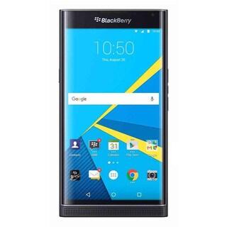 BlackBerry PRIV STV100-1 - Black w/ PRIV Smart Flip Cover - Tan (Refurbished)