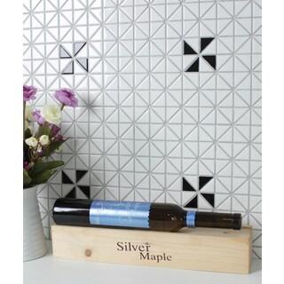 1-inch Single Windmill Pattern Glossy Porcelain Mosaic Tile