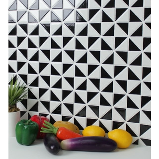 2-inch Multiple Windmill Pattern Glossy Porcelain Mosaic Tile
