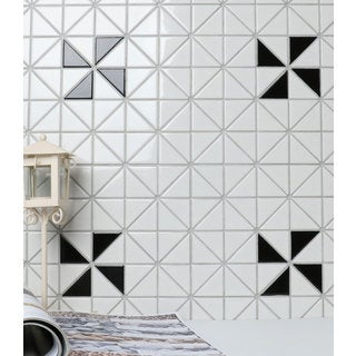2-inch Single Windmill Pattern Glossy Porcelain Mosaic Tile