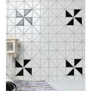 2-inch Single Windmill Pattern Glossy Porcelain Mosaic Tile