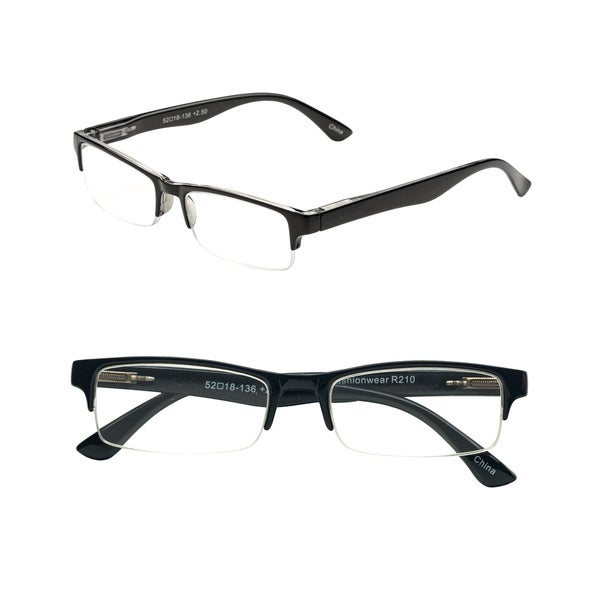 Pop Fashionwear R210 Unisex Rectangle Pastel Rimless Spring Hinge Readers. Opens flyout.