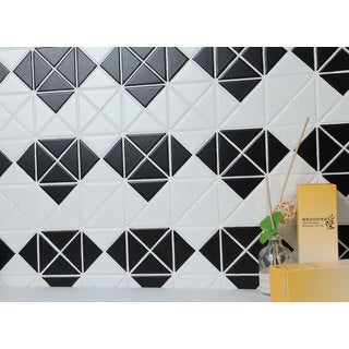 2-inch Mulitple Diamond Pattern Matte Porcelain Mosaic Tile (10 Sheets per Carton)