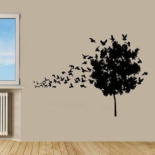 Birds Flying Wall Decor Tree Stickers Floral Interior Design Home Decor Kids Room Sticker Decal size