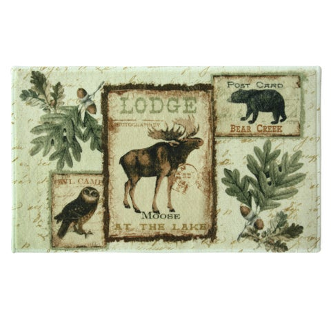 Lodge Memories bath rug by Bacova Guild