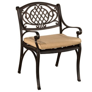 Hillsdale Furniture Esterton Outdoor Arm Chair - Set of 2 - Cushion Included