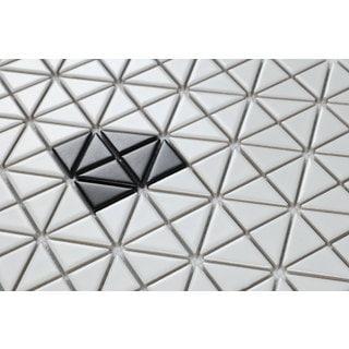 1-inch Single Diamond Pattern Glossy Porcelain Mosaic Tile (10 Sheets per Carton)