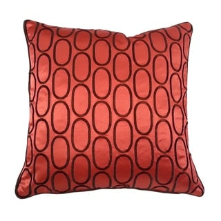 Ebroidered Ovals 20-inch Throw Pillow