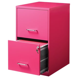 Office Designs 18-inch Deep 2-Drawer Steel File Storage Cabinet (Option: Pink)