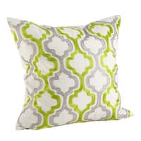 Moroccan Tile Print Down Filled Throw Pillow