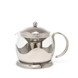 La Cafetiere Stainless Steel 4-cup Teapot|https://ak1.ostkcdn.com/images/products/14490791/P21049288.jpg?impolicy=medium