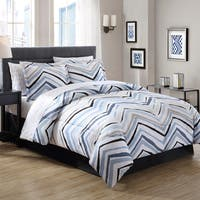 Carbon Loft Rutherford Blue Chevron Bed in a Bag