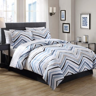 Carbon Loft Rutherford Blue Chevron Bed in a Bag (2 options available)