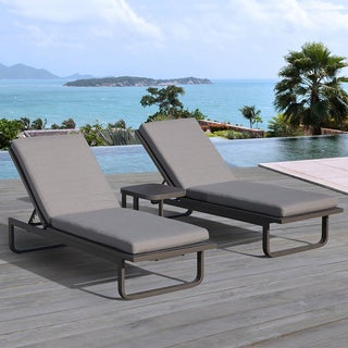 OVE Decors Vienna Outdoor 3-Piece Chaise Lounge Set