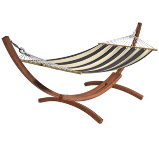 CorLiving Wood Canyon Freestanding Canvas Hammock