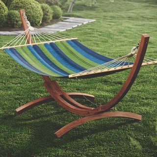 CorLiving Wood Canyon Freestanding Canvas Hammock (3 options available)
