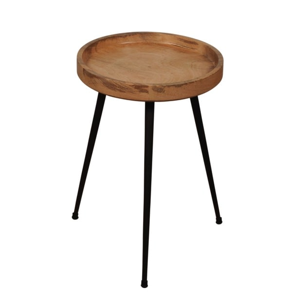 Round Wooden Accent Table STIL with Steel Legs. Opens flyout.