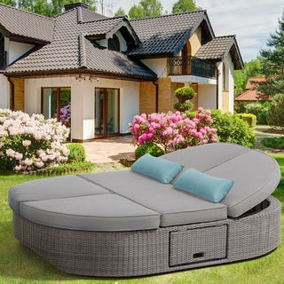 OVE Decors Sandra Swivel Outdoor Daybed