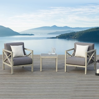 OVE Decors Pasadena Outdoor Patio 3-piece Chair Set