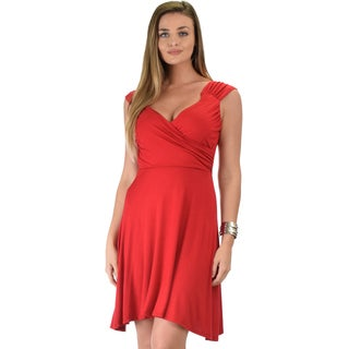 Little Lover Women's Ruched Skater Dress