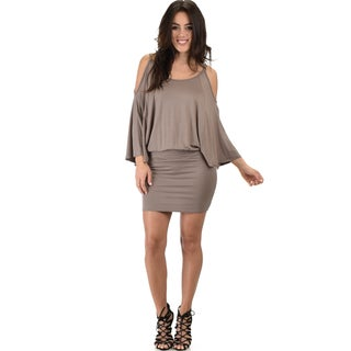 Lyss Loo Women's Cold Shoulder Dolman Dress