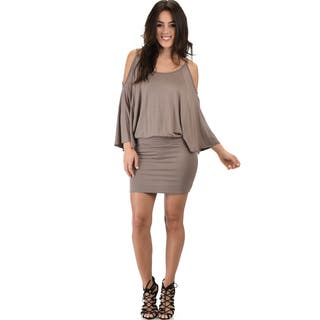 Lyss Loo Women's Cold Shoulder Dolman Dress (4 options available)|https://ak1.ostkcdn.com/images/products/14490842/P21049321.jpg?impolicy=medium